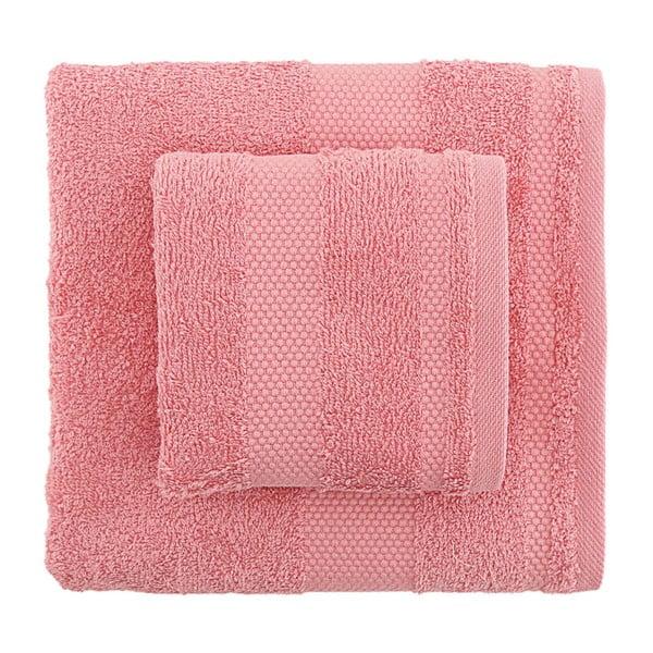 Sada 2 růžových ručníků Tommy