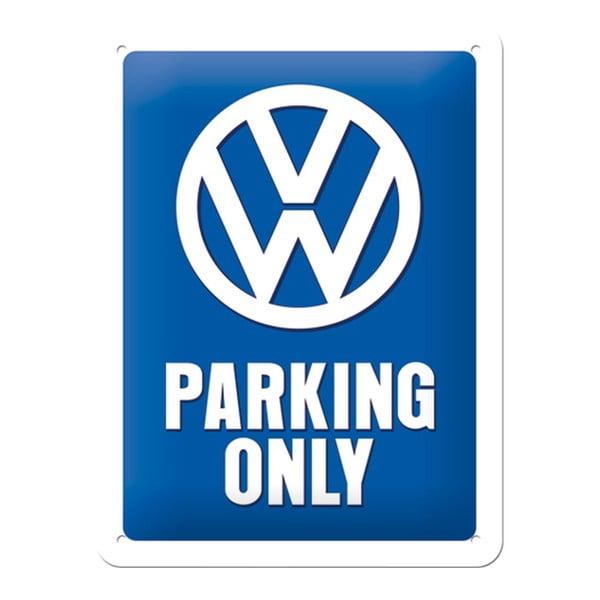 Sada plechová cedule a dóza Parking