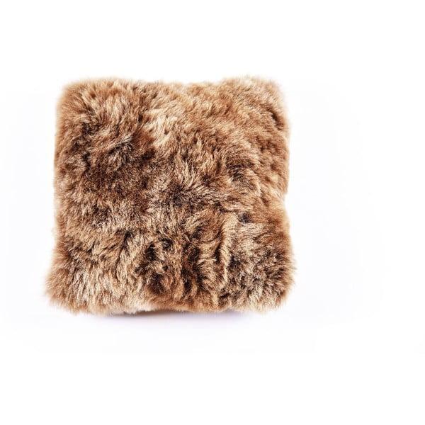 Oboustranný kožešinový polštář s krátkým chlupem Rusty, 50x50 cm