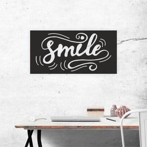 Černá nástěnná samolepicí dekorace North Carolina Scandinavian Home Decors Smile, 60 x 30 cm