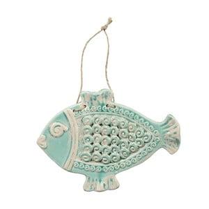Závěsná dekorace Fish Poiss Green, 28,5x21 cm