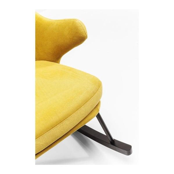 Fotoliu balansoar Kare Design Oslo, galben