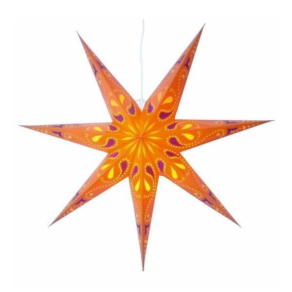 Závěsná svítící hvězda Siri Orange, 70 cm