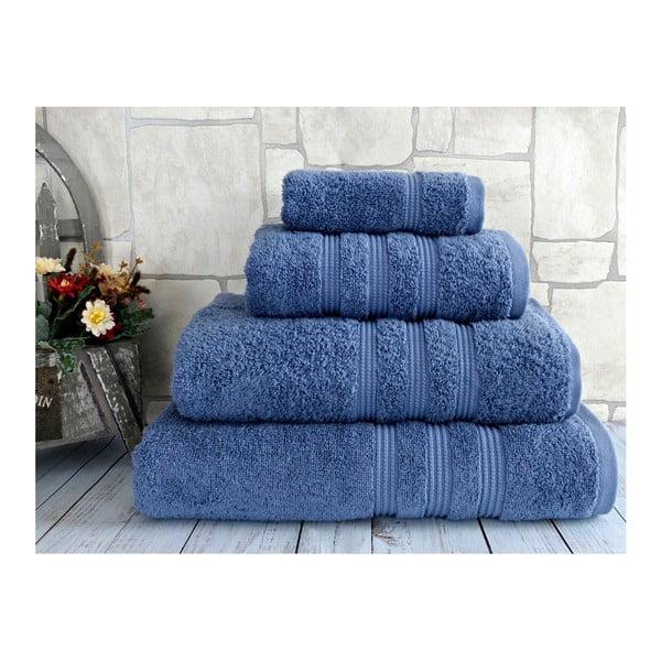 Modrá osuška z česané bavlny Irya Home Classic, 70x130 cm