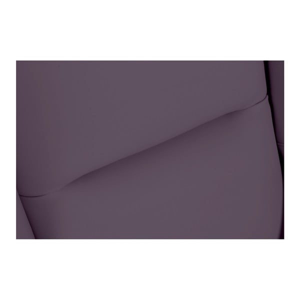 Fialové koženkové křeslo ušák Max Winzer Bruno