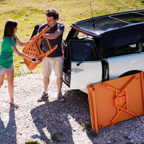 Skládací židle Zac Spring Arancio, oranžová
