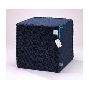 Tmavě modrý puf WeLoveBeds Comfortable Flat M