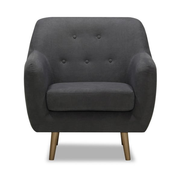 Ciemnoszary fotel Vivonita Lila