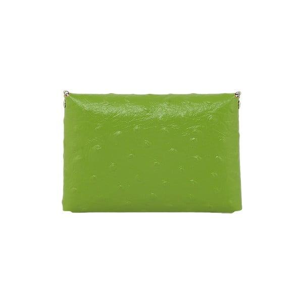 Psaníčko Pochette Ostrich Green