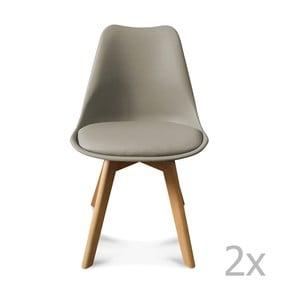 Sada 2 šedých židlí Opjet Scandinavie
