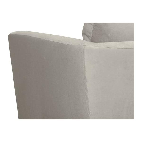 Světle šedá 3místná pohovka Mazzini Sofas Cotton