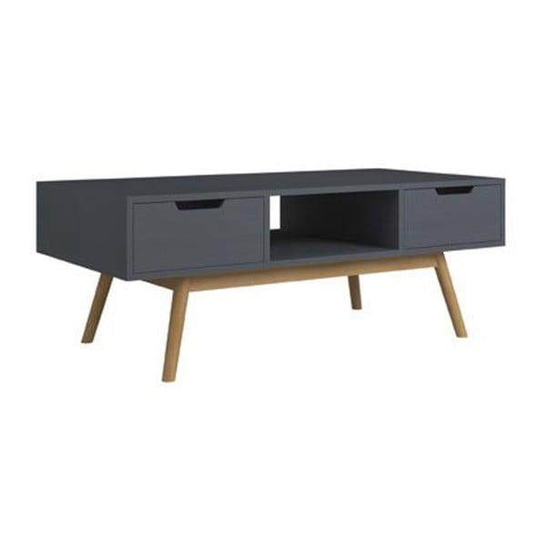 Šedý konferenční stolek z borovicového dřeva SOB Van