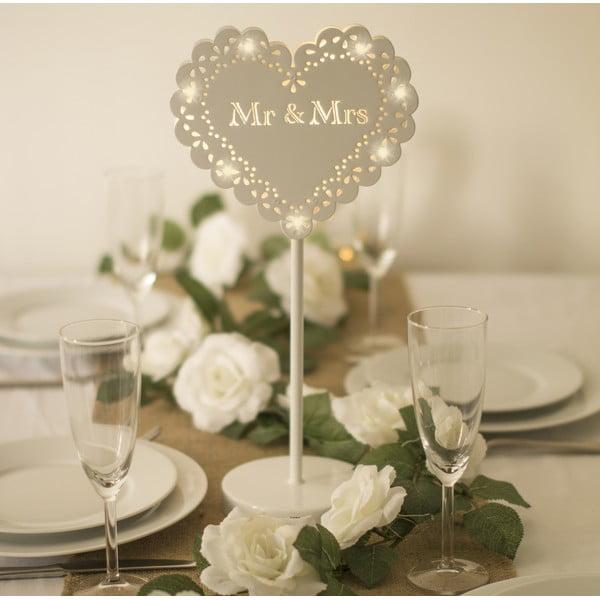 Svatební dekorace na stůl s LED světly Wedding