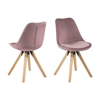 Set 2 scaune Actona Damia Velvet, roz de la Actona