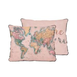 Polštář z mikrovlákna Surdic Pillow Map, 50x35 cm