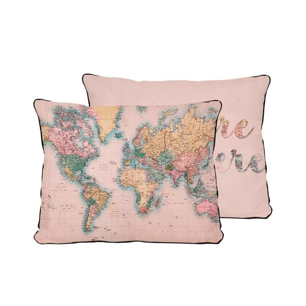 Față de pernă Surdic Pillow Map, 50 x 35 cm