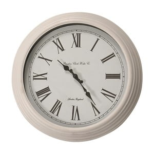 Nástěnné hodiny Braxton, bílé