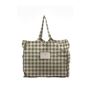 Geantă textilă Linen Couture Linen Bag Green Vichy imagine
