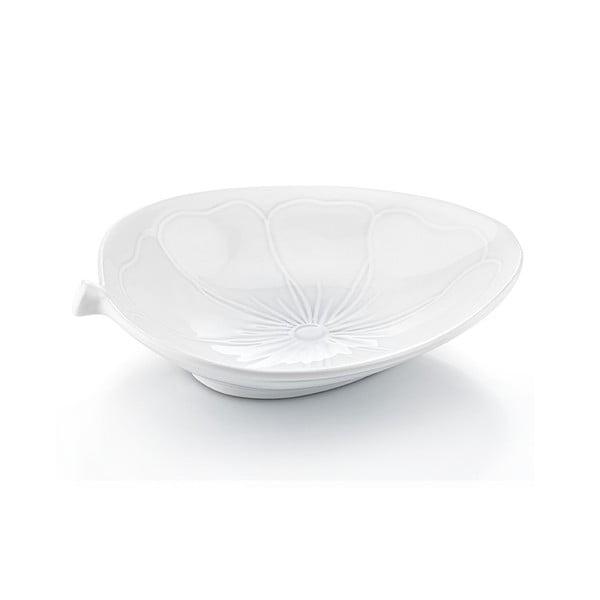 Porcelánový talíř Květina, 30x25 cm