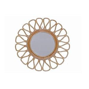 Ratanové nástěnné zrcadlo WOOX LIVING Sun