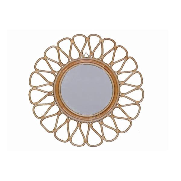 Ratanové nástenné zrkadlo WOOX LIVING Sun