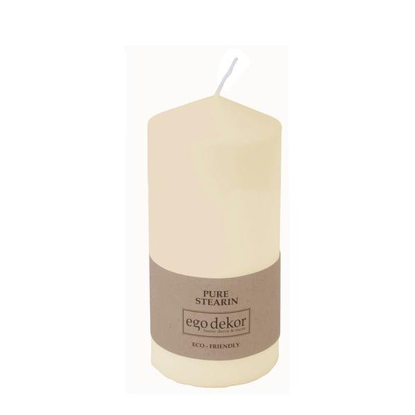 Smetanově bílá svíčka Baltic Candles Eco Top, výška 14cm