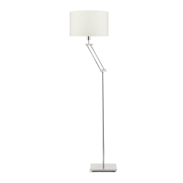 Šedá volně stojící lampa se světle béžovým stínidlem Citylights Dublin