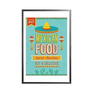 Zarámovaný plakát Mexican Food, černý rám