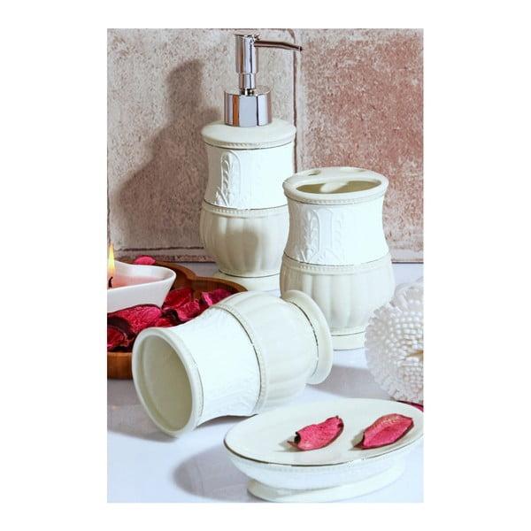 Bílý koupelnový set z keramiky