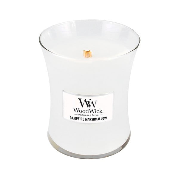 Lumânare parfumată WoodWick, aromă de bezele, 60 ore