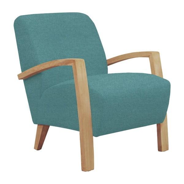 Jasnoniebieski fotel z jasnymi nogami Windsor & Co Sofas Luna