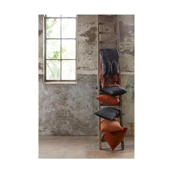 Tmavě červený bavlněný polštář De Eekhoorn Cherish, 50x50cm