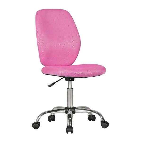 Růžová dětská židle na kolečkách Skyport Amstyle Emma