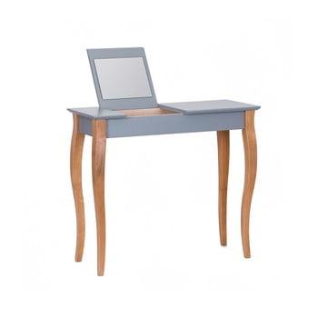 Masa De Toaleta Cu Oglinda Ragaba Dressing Table, Lungime 85 Cm, Gri Inchis