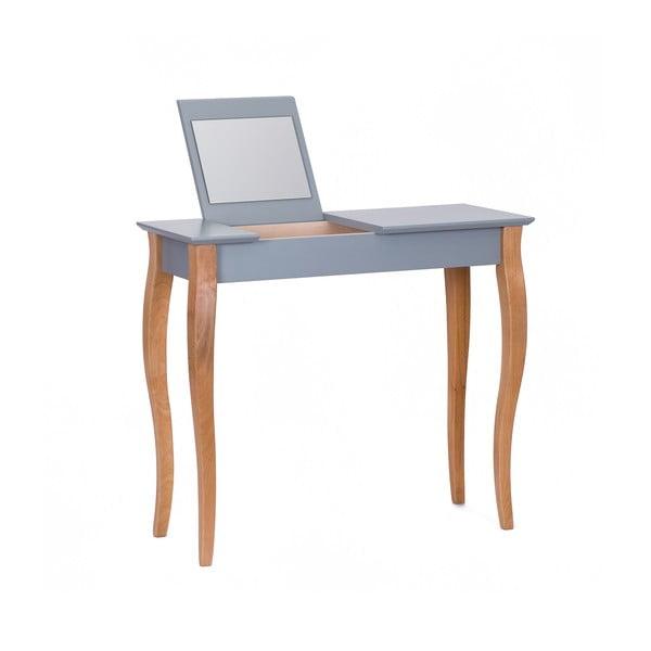 Dressing Table sötétszürke fésülködőasztal tükörrel, hosszúság 85 cm - Ragaba