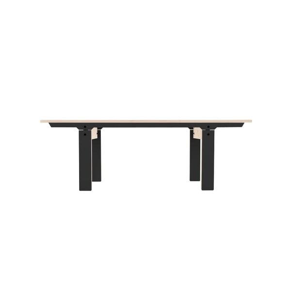 Černá lavice na sezení rform Slim 04, délka 133 cm