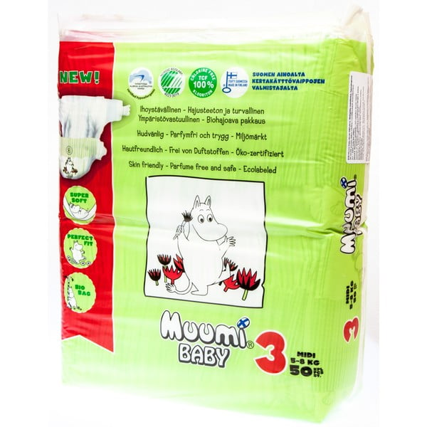 Pieluszki Muumi Baby Midi, vel. 3, 3x50 szt.