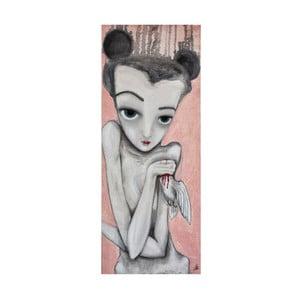 Autorský plakát od Lény Brauner Holubička, 26x60 cm