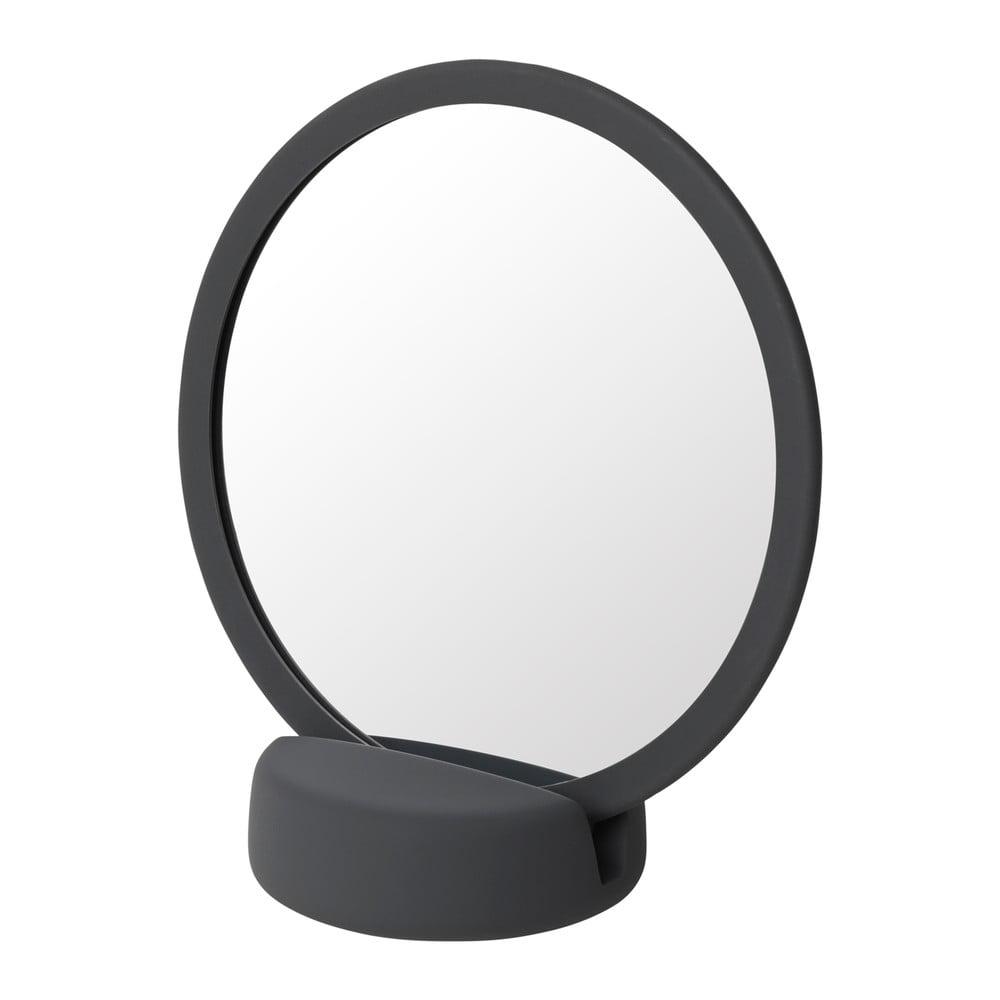 Šedočerné stolní kosmetické zrcadlo Blomus, výška 18,5 cm