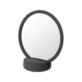 Oglindă cosmetică pentru masă Blomus, înălțime 18,5 cm, gri-negru