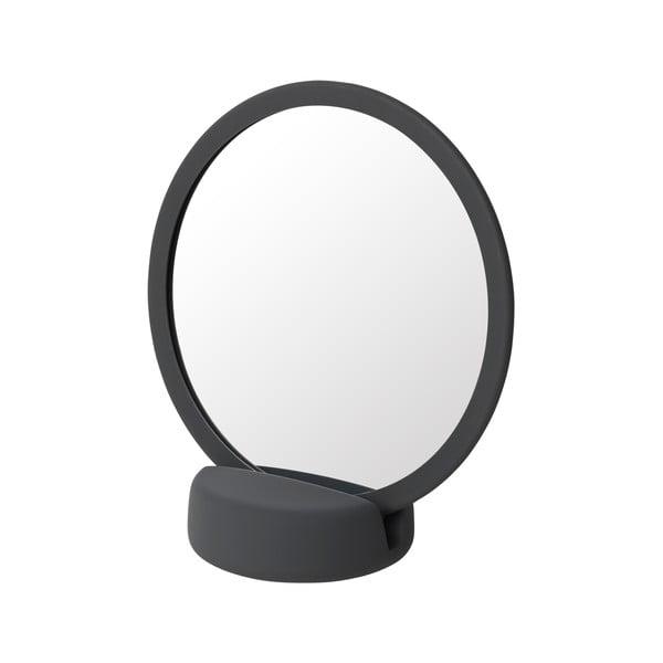 Šedočerné stolní kosmetické zrcadlo Blomus, výška18,5cm