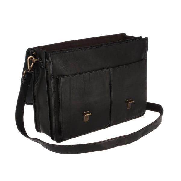 Kožená pánská taška Herdley Black