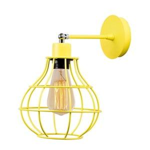 Žluté nástěnné svítidlo Dropy Wall Lamp