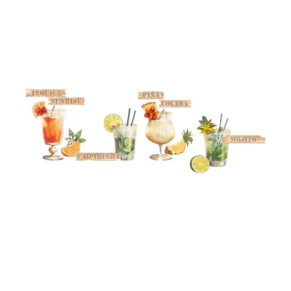 Dekorativní samolepka Koktejly