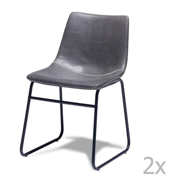 Indiana 2 darabos szürke székkészlet - Furnhouse