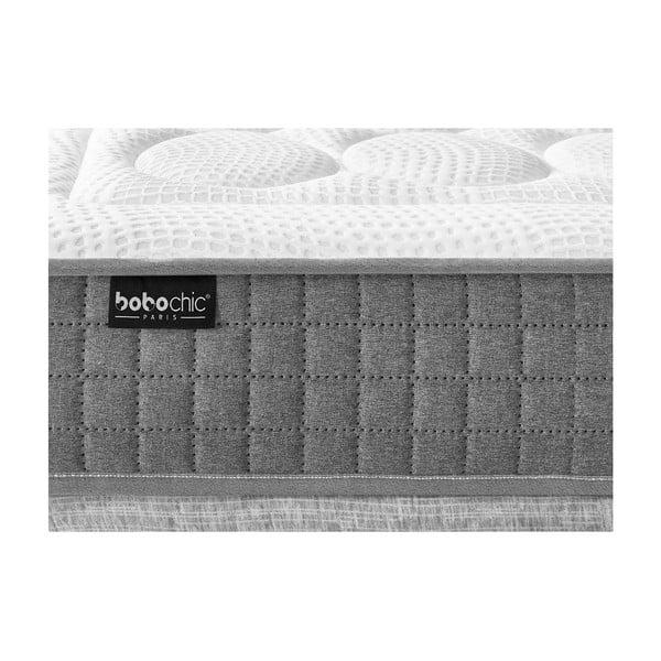 Bílá matrace s šedým okrajem Bobochic Paris Passion, 160x200cm