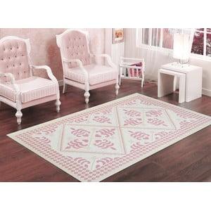 Pudrově růžový odolný koberec Vitaus Lulu, 80x200cm