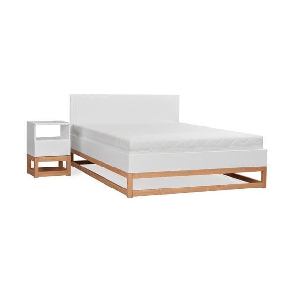 Dvoulůžková postel z masivního borovicového dřeva SKANDICA Karin, 140 x 200 cm