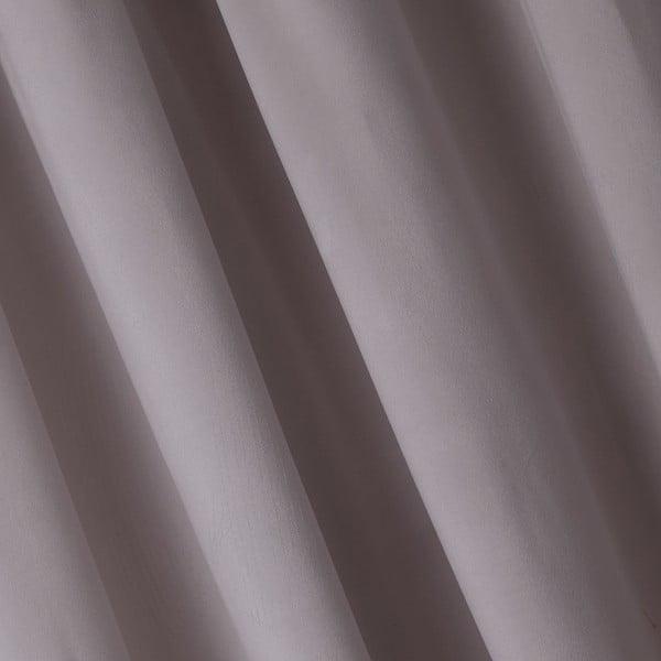 Šedohnědý závěs DecoKing Pierre, 140 x 270 cm