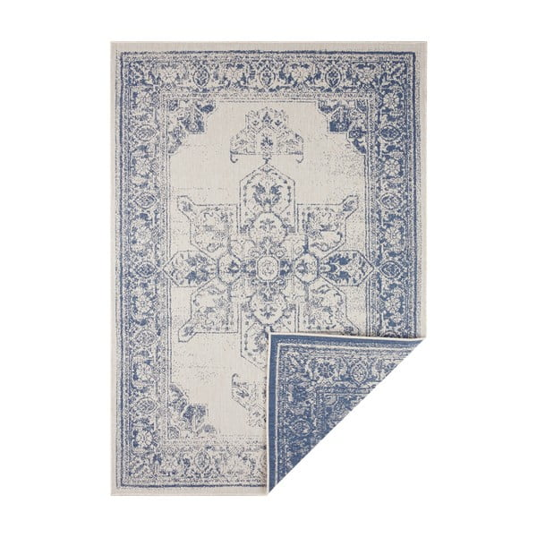 Covor adecvat pentru exterior Bougari Borbon, 80 x 150 cm, albastru-crem